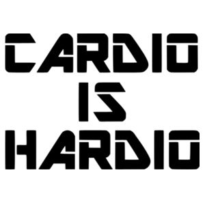 Cardio is Hardio - Car Bumper Sticker Design