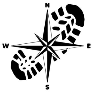 Compass and Boot - Car Bumper Sticker Design