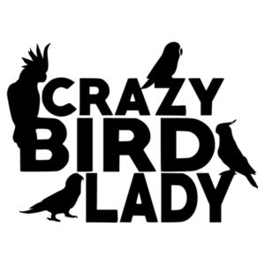 Crazy Bird Lady - Car Bumper Sticker Design