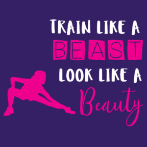 Train Like A Beast - Softstyle™ women's ringspun t-shirt Design