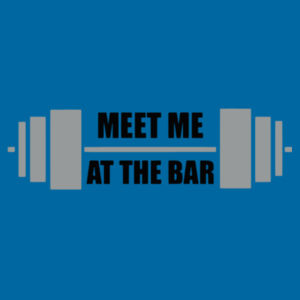 Meet Me at The Bar  - Softstyle™ adult ringspun t-shirt Design