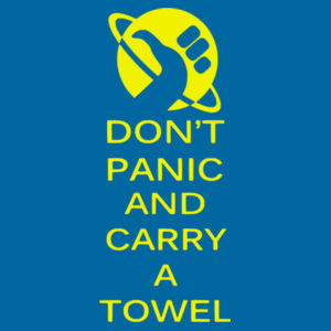 Keep calm and carry a towel - Softstyle™ adult ringspun t-shirt Design