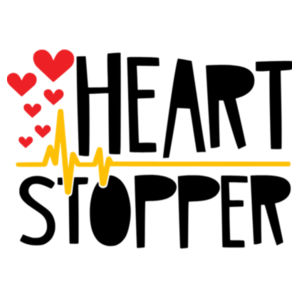 Heart Stopper - Softstyle™ adult ringspun t-shirt Design