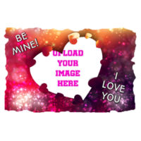Valentines I love you - Medium Rectangle Photo Slate Design