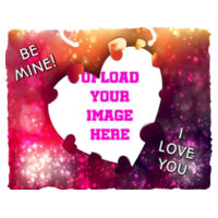 Valentines I love you - Medium Rectangle Hanging Photo Slate Design