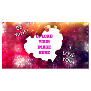 Valentines I love you - Small Rectangle Photo Slate Design