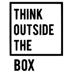 Think Outside The Box - Vertical Wall Sticker Design