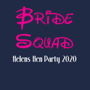 Disney Bride Squad Hen T-shirt - Softstyle™ women's tank top Design