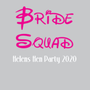 Disney Bride Squad Hen T-shirt - Softstyle™ women's v-neck t-shirt Design