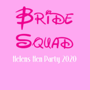 Disney Bride Squad Hen T-shirt - Lady-fit strap tee Design
