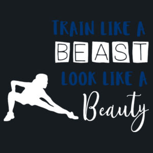 Train Like A Beast - Girlie cool vest Design