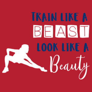Train Like A Beast - Girlie cool contrast vest Design