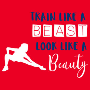 Train Like A Beast - Contrast cool T Design