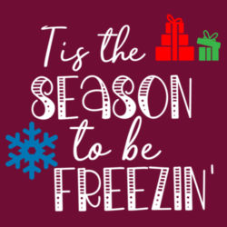 Tis The Season To Be Freezin' - Heavyweight hoodie Design