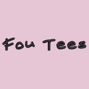 Fou Tees Embroidered Logo - Softstyle™ women's ringspun t-shirt Design