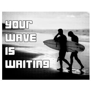 Your Wave Is Waiting - Heavy Cotton™ Youth T-shirt Design