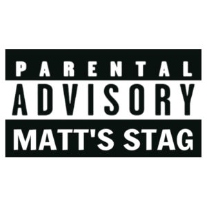 Customisable Parental Advisory Stag T-Shirt - Softstyle™ adult ringspun t-shirt Design