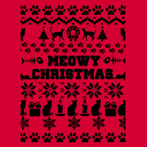 Meowy Christmas - Heavy Blend™ youth crew neck sweatshirt Design