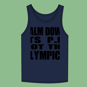 Calm Down Its PE Not The Olympics - Softstyle™ adult tank top Thumbnail