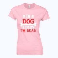 In Dog Years  - Softstyle™ women's ringspun t-shirt Thumbnail