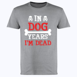 In Dog Years  - Softstyle™ adult ringspun t-shirt Thumbnail