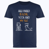 What I love is Pug Yoga - Softstyle™ adult ringspun t-shirt Thumbnail
