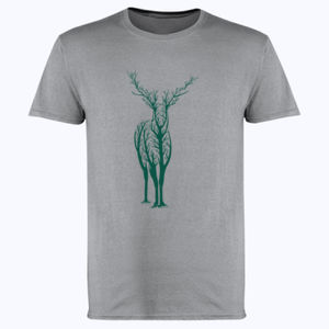 Deer Tree - Softstyle™ adult ringspun t-shirt Thumbnail