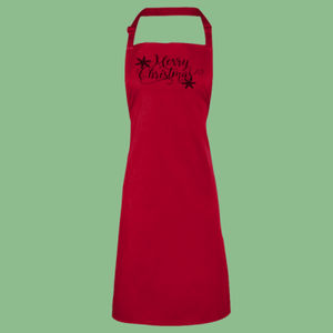 Merry Christmas - 'Colours' bib apron Thumbnail