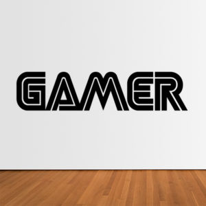 Gamer  - Horizontal Wall Sticker Thumbnail