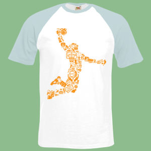 Basketball Player - Short sleeve baseball tee Thumbnail