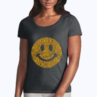 Smiley - Softstyle® women's deep scoop t-shirt Thumbnail