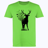 Butterfly Deer - Softstyle™ adult ringspun t-shirt Thumbnail
