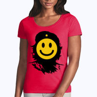 Che Smiles - Softstyle® women's deep scoop t-shirt Thumbnail