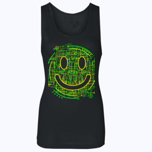 Electric Smiley - Softstyle™ women's tank top Thumbnail