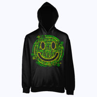 Electric Smiley - Heavyweight blend youth hooded sweatshirt Thumbnail
