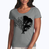 Life and Death - Softstyle® women's deep scoop t-shirt Thumbnail