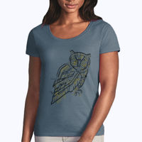 Electric Owl - Softstyle® women's deep scoop t-shirt Thumbnail