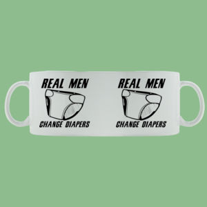 Real Men - Mug - Ceramic 11oz Thumbnail