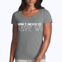 I Have Wifi - Softstyle® women's deep scoop t-shirt Thumbnail