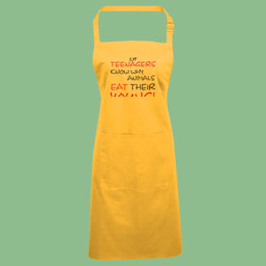 Eat Your Young - 'Colours' bip apron with pocket Thumbnail
