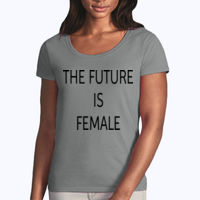 The Future Is Female - Softstyle® women's deep scoop t-shirt Thumbnail
