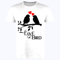 Love Birds  - Softstyle™ adult ringspun t-shirt Thumbnail