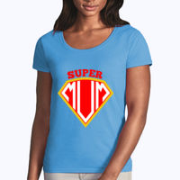 Super Mum - Softstyle® women's deep scoop t-shirt Thumbnail