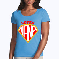 Super Nana - Softstyle® women's deep scoop t-shirt Thumbnail