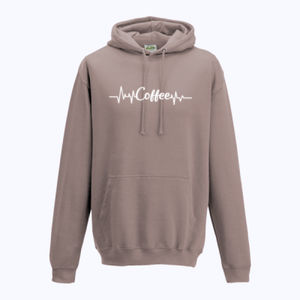 Coffee Heartbeat - College Hoodie Thumbnail