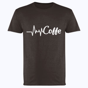 Coffee Heartbeat - Softstyle™ adult ringspun t-shirt Thumbnail