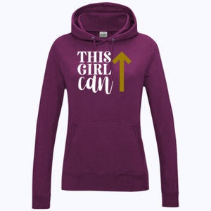 This Girl Can - Girlie college hoodie Thumbnail