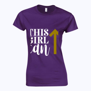 This Girl Can - Softstyle™ women's ringspun t-shirt Thumbnail