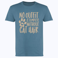 No outfit is complete without cat hair - Softstyle™ adult ringspun t-shirt Thumbnail