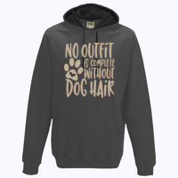 No outfit is complete without dog hair - Varsity Hoodie Thumbnail